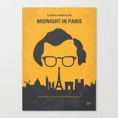 No312 My Midnight in Paris minimal movie poster Canvas Print