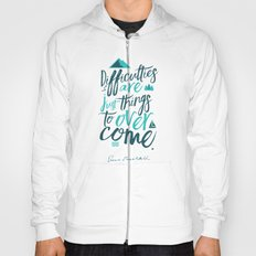 Shackleton Quote on Difficulties - Illustration Hoody