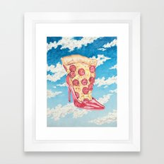 No Boys, Just Pizza Framed Art Print