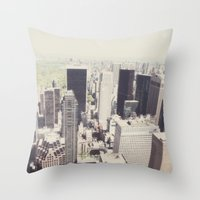 the city::nyc Throw Pillow