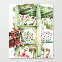 Alice's Teapots Canvas Print