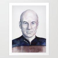 Captain Picard Art Print