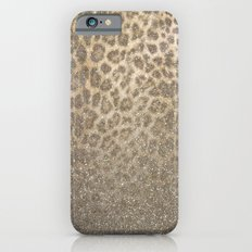 Shimmer (Golden Leopard Glitter Abstract) iPhone 6 Slim Case