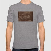 round 5...evander holyfield Mens Fitted Tee Athletic Grey SMALL