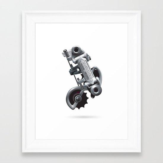 Nuvo Record Rear Derailleur Framed Art Print
