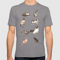 For cat lovers - watercolor of different cat breeds Mens Fitted Tee Tri-Grey SMALL