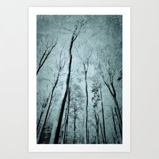 winter abstraction Art Print