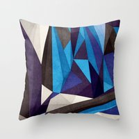 Blue Something Throw Pillow