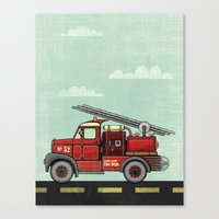 Atomic County Fire Depar… Canvas Print