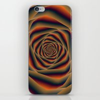 Tunnel Spiral in Orange Blue and Violet iPhone & iPod Skin