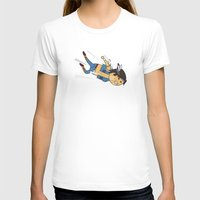 Condor Dive! Womens Fitted Tee White SMALL