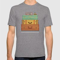 staycation Mens Fitted Tee Tri-Grey SMALL