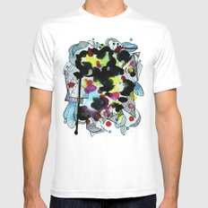 Hanging worlds  White SMALL Mens Fitted Tee
