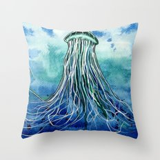 Emperor Jellyfish Throw Pillow