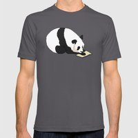 Reading Panda Mens Fitted Tee Asphalt SMALL