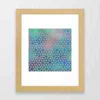 Flower of Life Variation - pattern 3 Framed Art Print