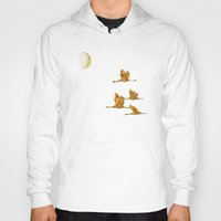 Moon-lit Flight (landscape) Hoody