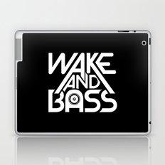 Wake And Bass (White) Laptop & iPad Skin