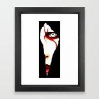 Red Line Framed Art Print