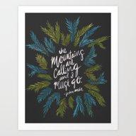 Mountains Calling – Ch… Art Print