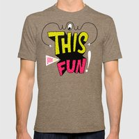 Wow This Looks Like Fun! Mens Fitted Tee Tri-Coffee SMALL