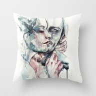 Throw Pillow featuring Forever Yours Freckles by Agnes-cecile