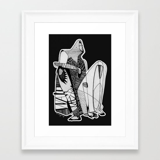 Wait, it's gonna be interesting (touch the ground) - Emilie Record Framed Art Print