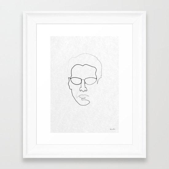 One line Neo Framed Art Print