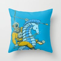 Deep Sea Hunting Throw Pillow