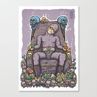 THE GHOST WHO SNACKS Canvas Print