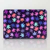 Pink Hempy Leaves iPad Case