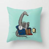 The Dadasaurus Throw Pillow