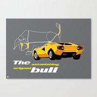 Origami Bull Canvas Print