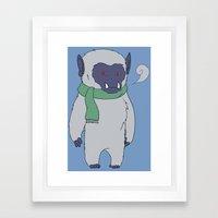Yeti Boy Framed Art Print