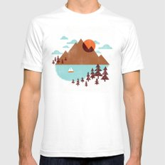 Indian Summer Mens Fitted Tee White SMALL