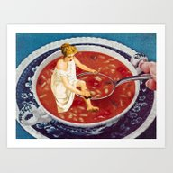 Art Print featuring Bathing Ladies, Part 1 by Eugenia Loli