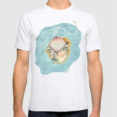 GRANDES PENSAMIENTOS Mens Fitted Tee Ash Grey SMALL