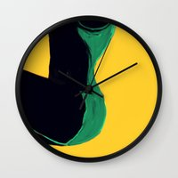 Swimmer #3 Wall Clock