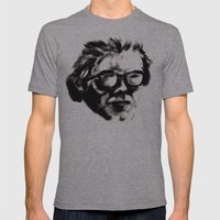 Hipster Beethoven Mens Fitted Tee Athletic Grey SMALL
