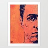 Icons: Edward Norton in Fight Club Art Print