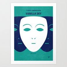 No571 My Vanilla Sky minimal movie poster Art Print