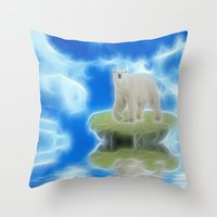 Melting Polar Ice  Throw Pillow