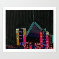 } : -) Art Print