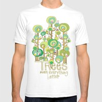 Trees Make Everything Be… Mens Fitted Tee White SMALL