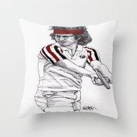 Tennis Mcenroe Throw Pillow
