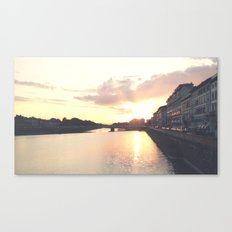 sunset on the Arno Canvas Print