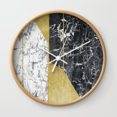 marble hOurglass Wall Clock