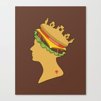 Burger Queen Aka Royal W… Canvas Print
