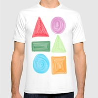 Shapes Mens Fitted Tee White SMALL