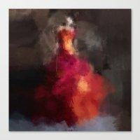 Fire Dress Canvas Print